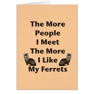 私のフェレットのように カード