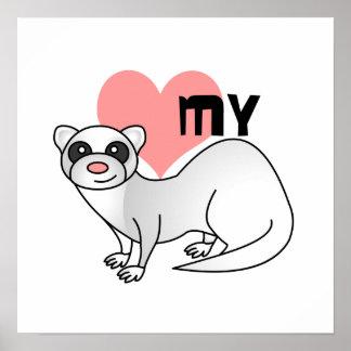 私のフェレット-銀--を愛して下さい ポスター