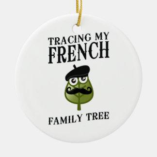 私のフランスのな系譜をたどること セラミックオーナメント