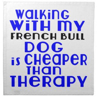 私のフレンチ・ブルドッグ犬のデザインと歩くこと ナプキンクロス