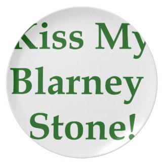 私のブラーニー石に接吻して下さい プレート