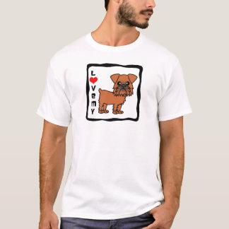 私のブリュッセルGriffonを愛して下さい Tシャツ