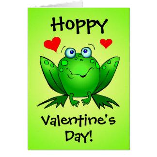 私のプリンセスのホップの豊富なバレンタインのかわいいカエルカードに カード