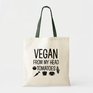 私のヘッドトマトのおもしろいなバッグからのビーガン トートバッグ