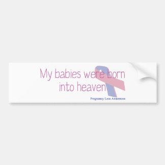 私のベビーは天国に生まれました バンパーステッカー