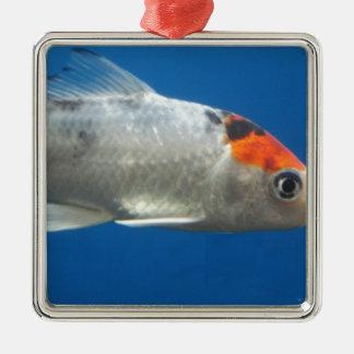私のペットコイの魚 メタルオーナメント