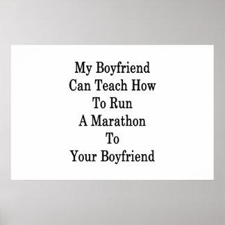 私のボーイフレンドはYoにマラソンを走る方法を教えることができます ポスター