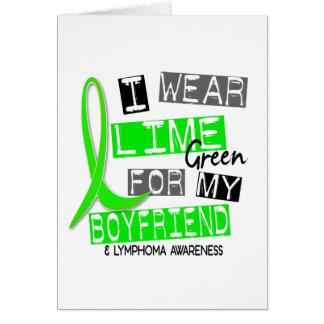 私のボーイフレンド37のためのリンパ腫Iの衣服のライムグリーン カード