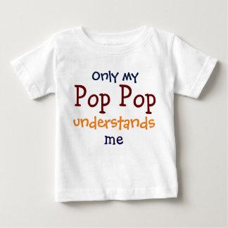 私のポップ・アートのな破裂音だけ私の子供のTシャツ言うことがわかります ベビーTシャツ
