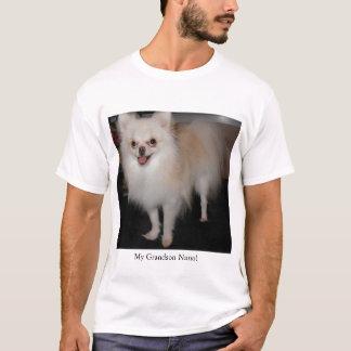 私のポメラニア犬の孫 Tシャツ