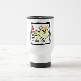 私のポメラニア犬を愛して下さい トラベルマグ