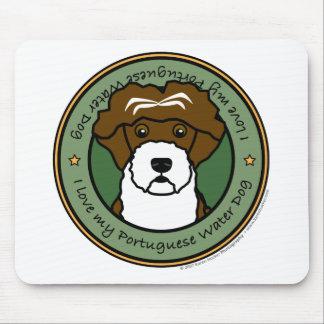 私のポルトガル水犬を愛して下さい マウスパッド