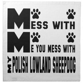 私のポーランドの低地の牧羊犬と台なしにします ナプキンクロス