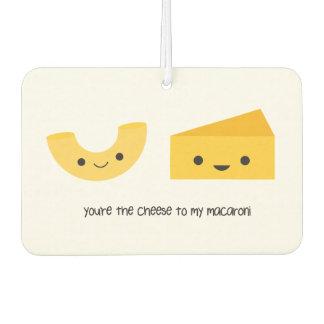 私のマカロニの芳香剤へのあなたはチーズ カーエアーフレッシュナー