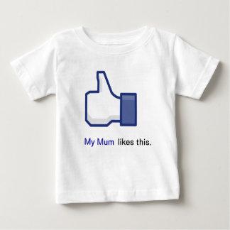 私のミイラはこれを好みます ベビーTシャツ