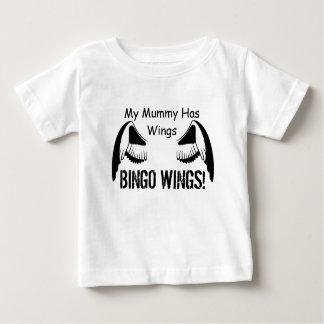 私のミイラは翼-ビンゴの翼--を持っています ベビーTシャツ