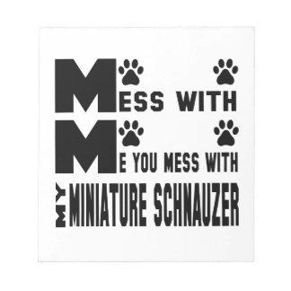 私のミニチュア・シュナウツァーと台なしにします ノートパッド