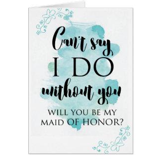 私のメイド・オブ・オーナー(花嫁付き添い人)の質問カードです カード