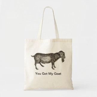 私のヤギ-トートバック--を得ました トートバッグ