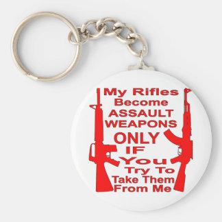 私のライフルは試みるときだけ攻撃用武器になります キーホルダー