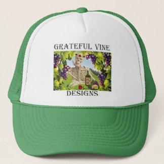 """私のロゴの帽子!!  """"感謝したつる植物""""は設計します!! キャップ"""