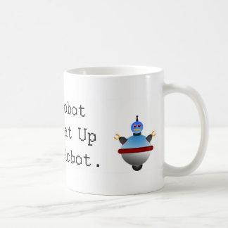 私のロボットはあなたのロボットを打つことができます コーヒーマグカップ