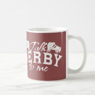 私のローラーダービーへの話ダービー コーヒーマグカップ