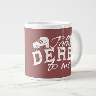 私のローラーダービーへの話ダービー ジャンボコーヒーマグカップ