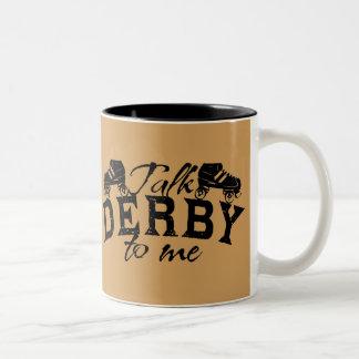 私のローラーダービーへの話ダービー ツートーンマグカップ