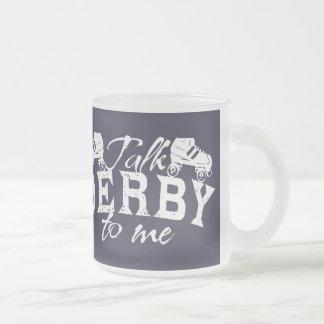 私のローラーダービーへの話ダービー フロストグラスマグカップ