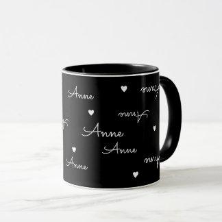 私の一流のタイポグラフィ愛黒 マグカップ