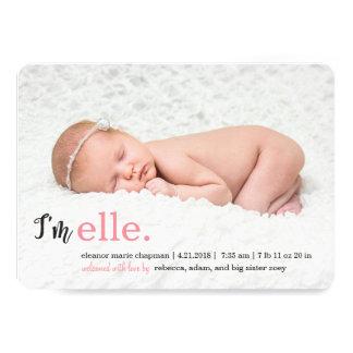 私の一流のモダンな誕生の発表 カード