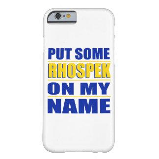私の一流のiPhoneの場合のRHOspek Barely There iPhone 6 ケース