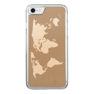 私の世界の地図- CARVED iPhone 8/7 ケース