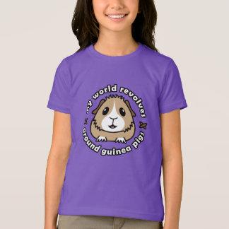 私の世界は…モルモットの子供のTシャツを回転させます Tシャツ