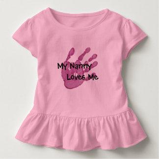 私の乳母は私ピンクを愛します トドラーTシャツ
