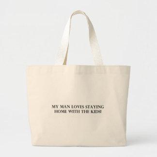 私の人はKids.pdfと家に居ることを愛します ラージトートバッグ