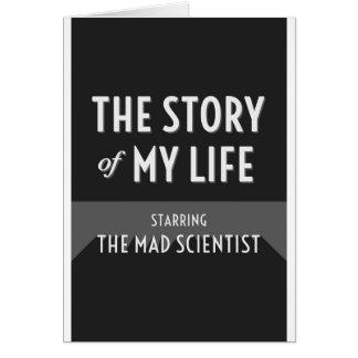私の人生の気違いの科学者の挨拶状の物語 カード