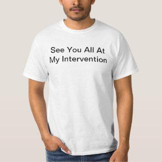 私の介在ですべて会って下さい Tシャツ