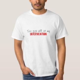 私の介在のおもしろいなユーモアのティーですべて会って下さい Tシャツ