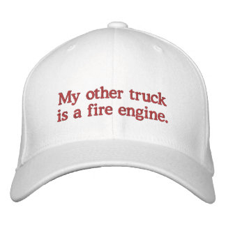 私の他のトラックは消防車です 刺繍入りキャップ