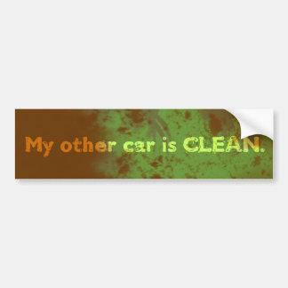私の他の車はきれいです バンパーステッカー