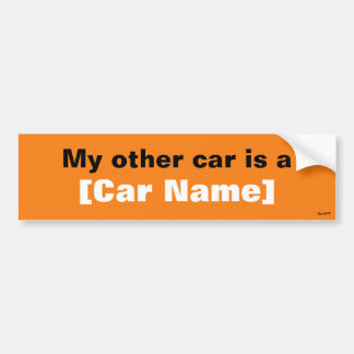 私の他の車はです… (オレンジ) バンパーステッカー