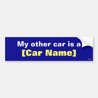 私の他の車はです… (海軍) バンパーステッカー