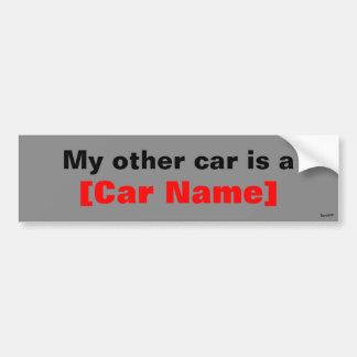 私の他の車はです… (灰色) バンパーステッカー