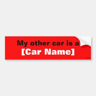 私の他の車はです… (赤) バンパーステッカー