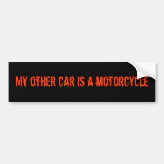 私の他の車はオートバイのバンパーステッカーです バンパーステッカー