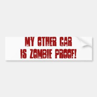 私の他の車はゾンビの証拠です バンパーステッカー
