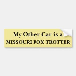 私の他の車はミズーリのキツネの速歩馬です バンパーステッカー