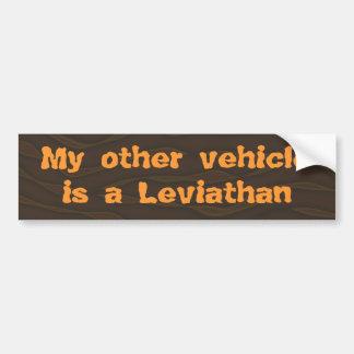 私の他の車はレビヤタンです バンパーステッカー
